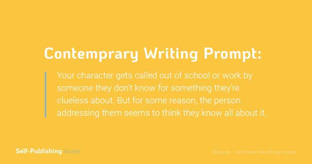 contemporary writing prompt
